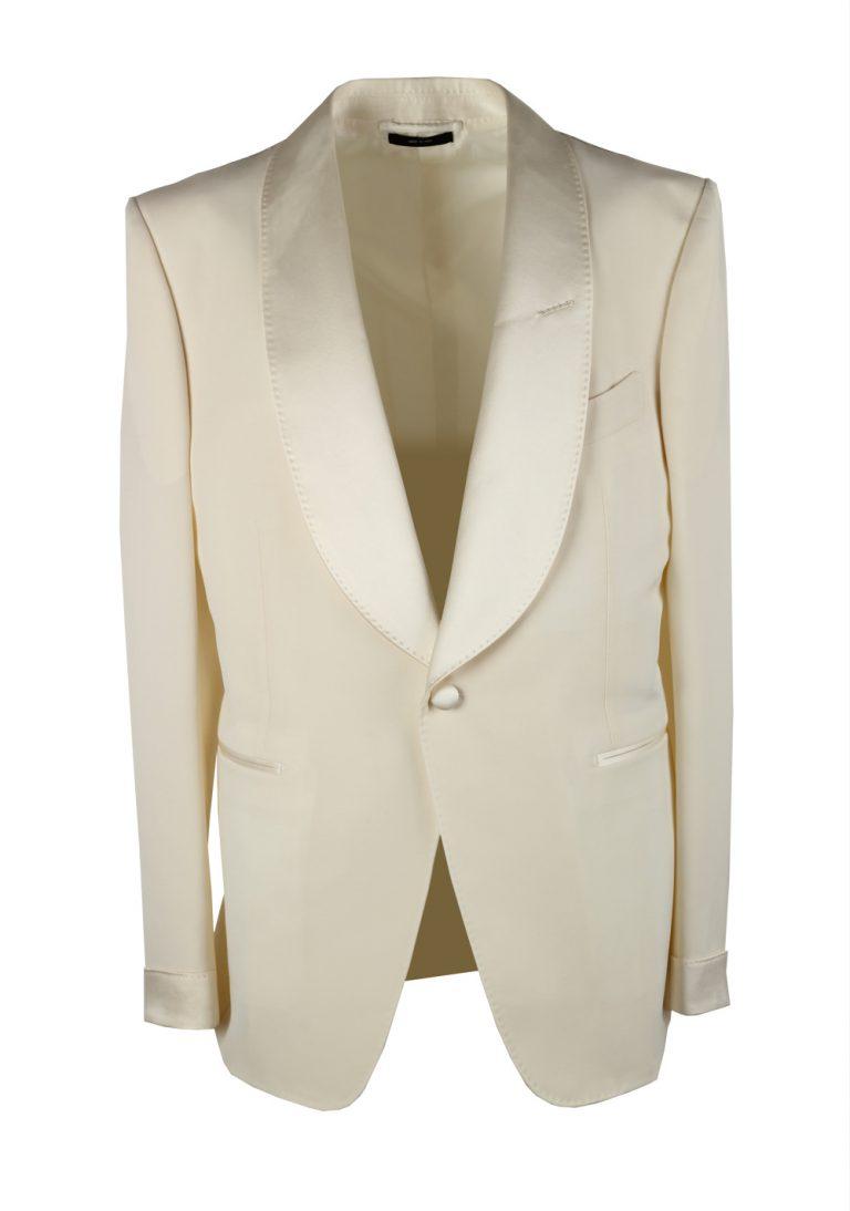 TOM FORD Shelton Ivory Sport Coat Tuxedo Dinner Jacket Size 52C / 52S U.S. - thumbnail   Costume Limité