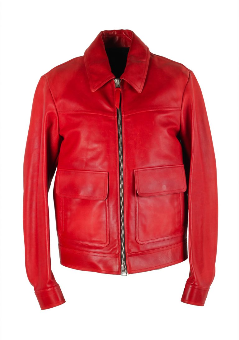 TOM FORD Red Leather Jacket Coat Size 48 / 38R U.S. Outerwear - thumbnail   Costume Limité