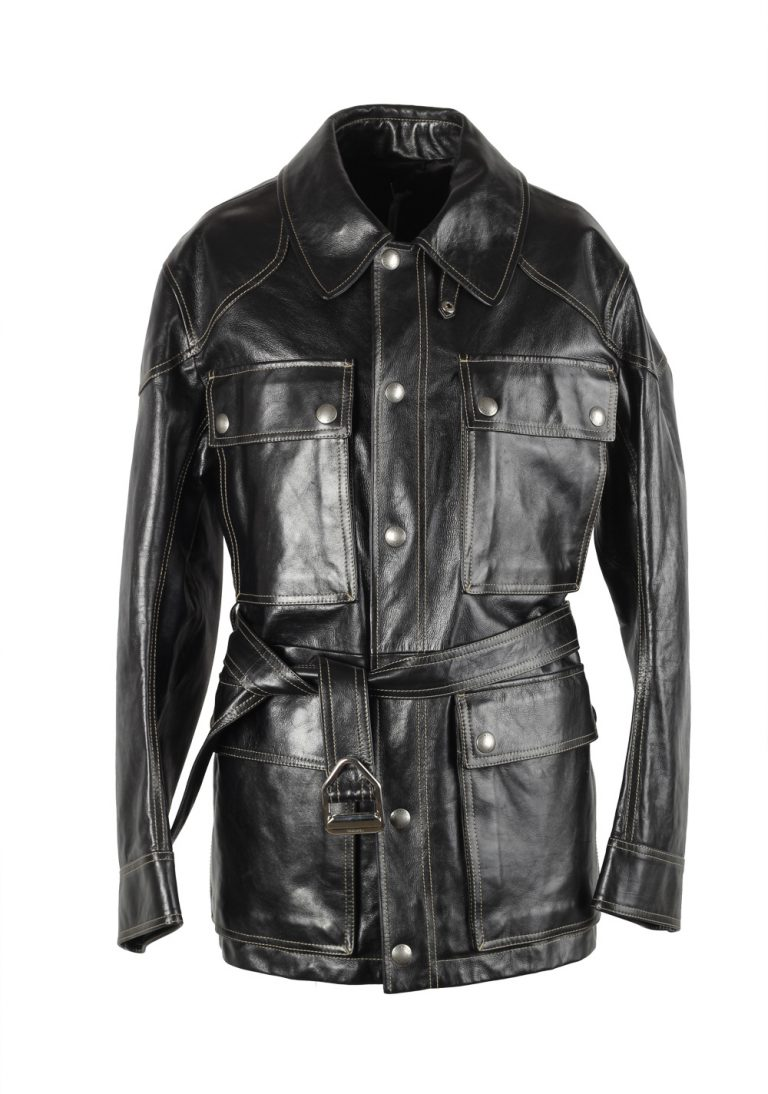 TOM FORD Black Leather Field Jacket Coat Size 48 / 38R U.S. Outerwear - thumbnail   Costume Limité