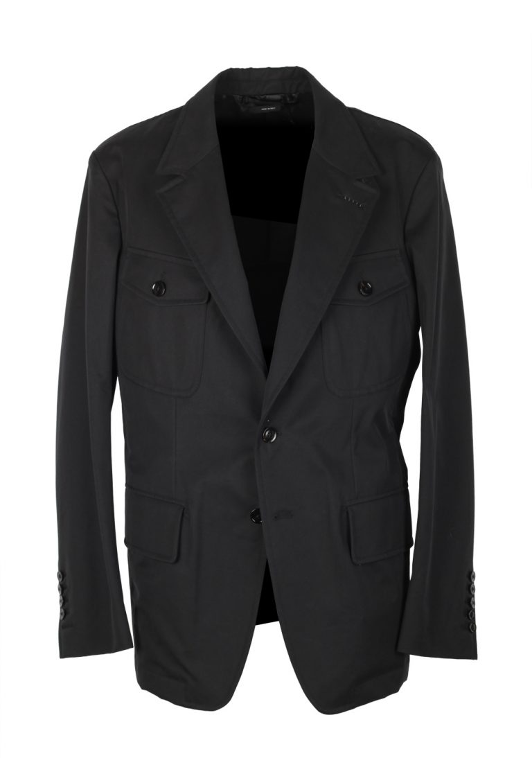 TOM FORD Black Military Field Jacket Coat Size 52 / 42R U.S. Outerwear - thumbnail   Costume Limité