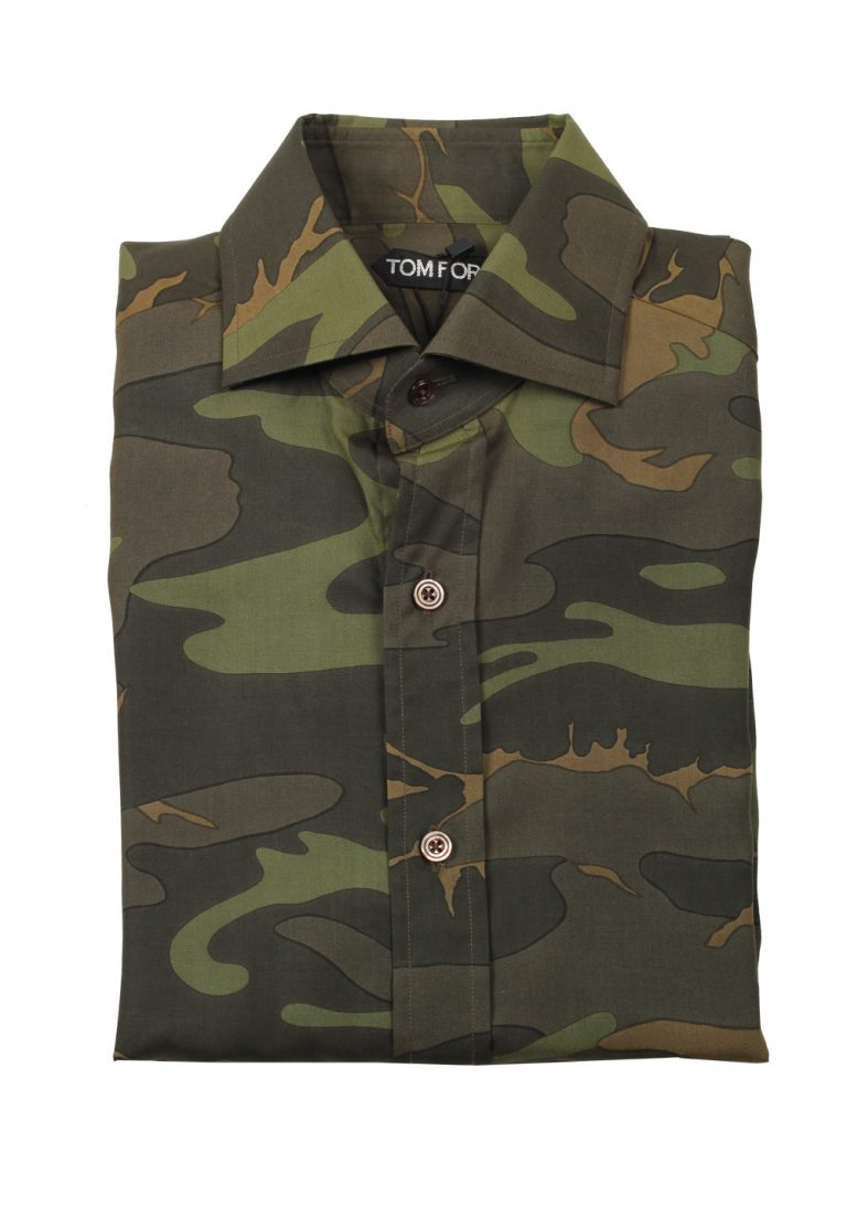 TOM FORD Signature Camouflage Green Dress Shirt - thumbnail | Costume Limité