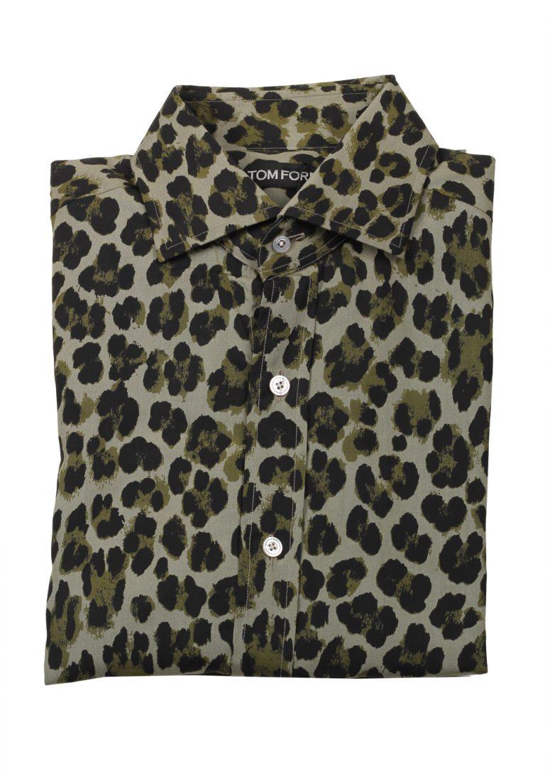 TOM FORD Signature Leopard Green Dress Shirt - thumbnail | Costume Limité