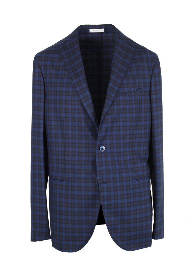 Boglioli K Jacket Blue Checked Suit - thumbnail | Costume Limité