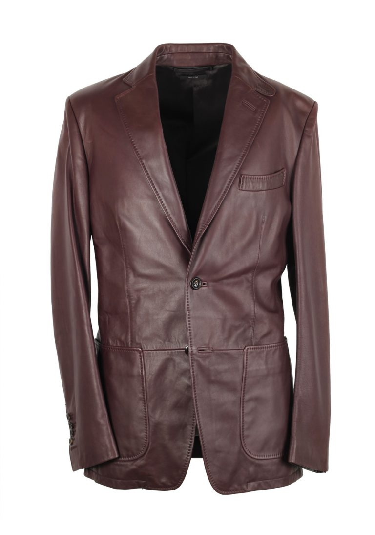 TOM FORD Brown Nappa Leather Jacket Coat - thumbnail | Costume Limité