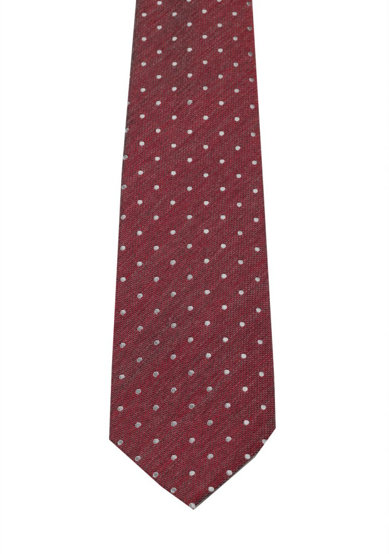 TOM FORD Patterned Red Tie In Silk - thumbnail | Costume Limité