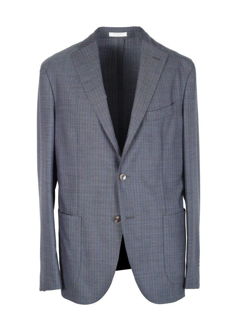 Boglioli K Jacket Blue Striped Suit Size 50 / 40R U.S. - thumbnail | Costume Limité