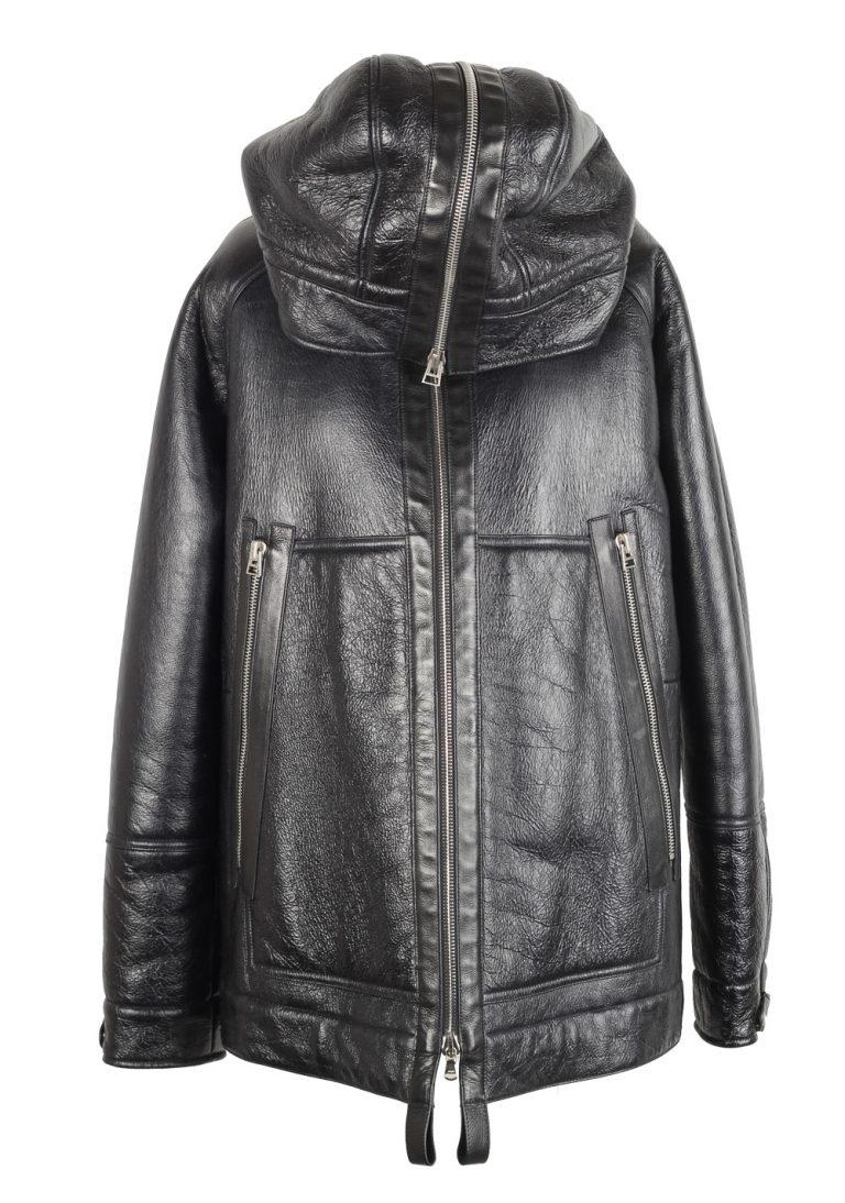 TOM FORD Black Oversized Shearling Jacket Coat Size 52 / 42R U.S. - thumbnail | Costume Limité