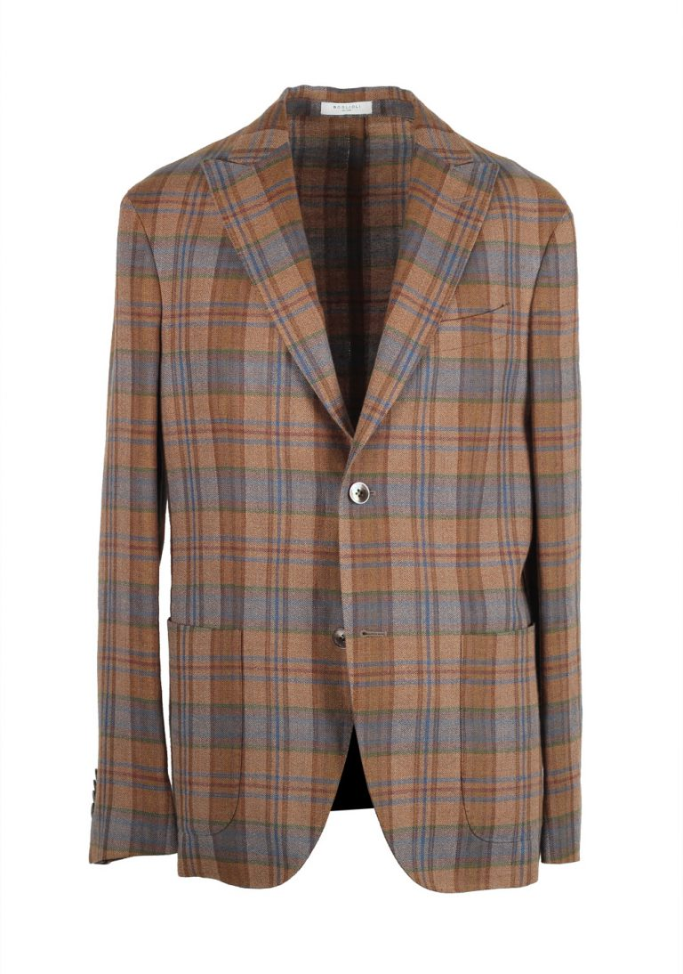 Boglioli K Jacket Brown Checked Sport Coat Size 48 / 38R U.S. - thumbnail | Costume Limité