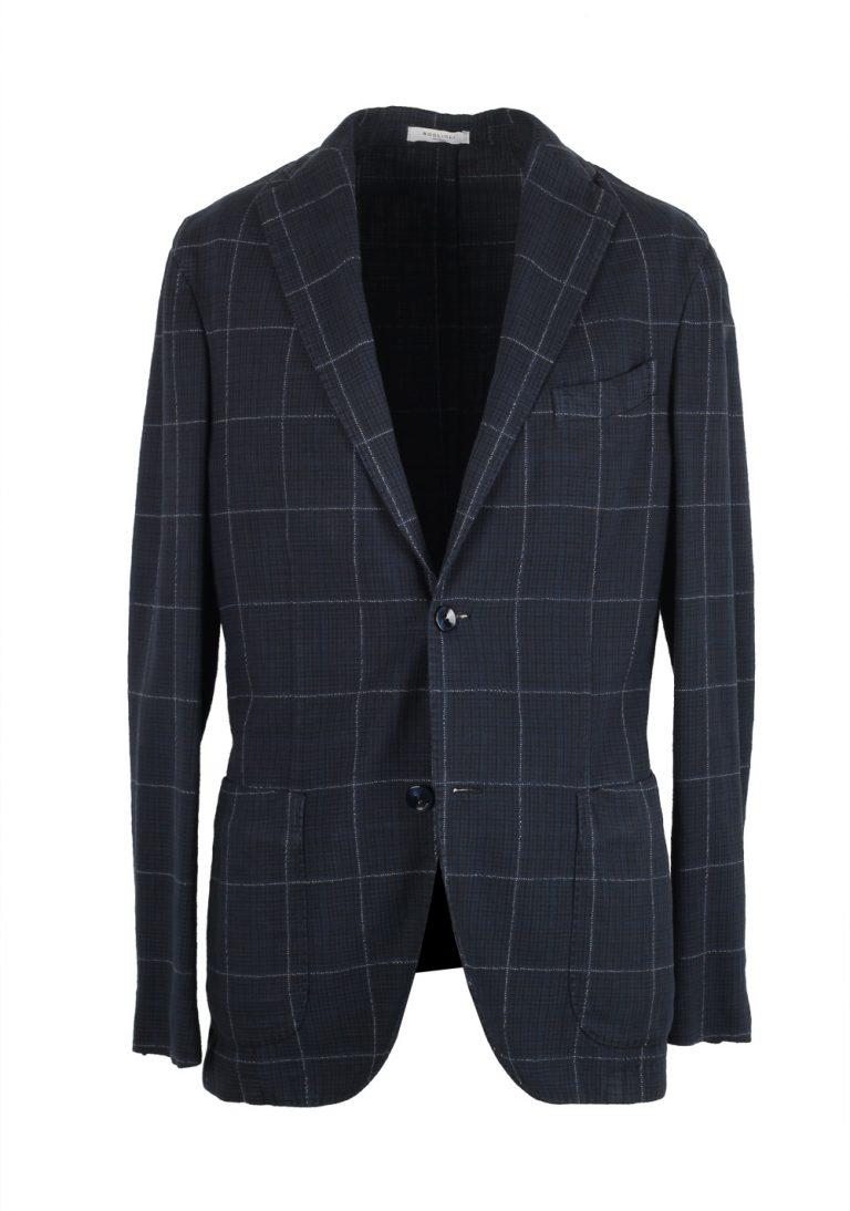Boglioli K Jacket Blue Checked Sport Coat - thumbnail | Costume Limité