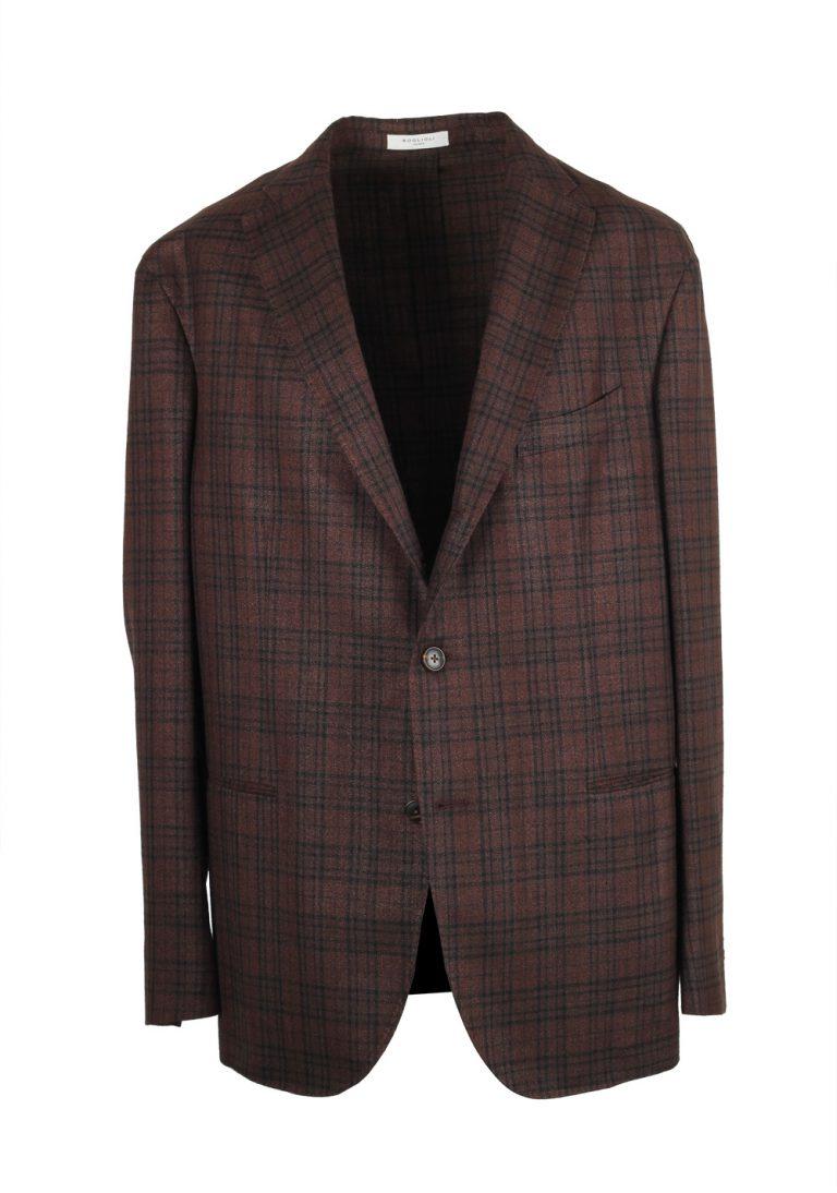 Boglioli K Jacket Brown Checked Sport Coat - thumbnail | Costume Limité