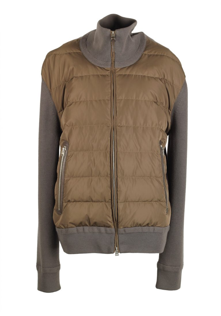 TOM FORD Brown James Bond Spectre Knitted Sleeve Bomber Jacket  Size 58 / 48R U.S. - thumbnail | Costume Limité