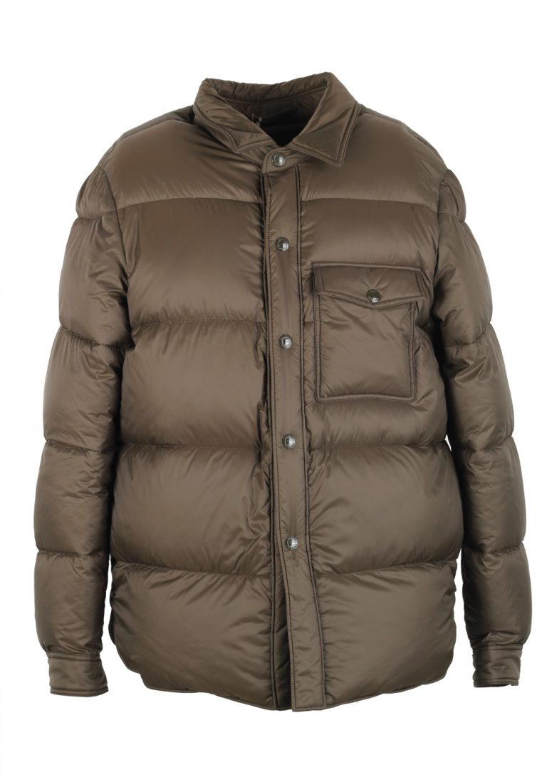 TOM FORD Taupe Quilted Down Jacket Coat Size 50 / 40R U.S. Outerwear - thumbnail | Costume Limité