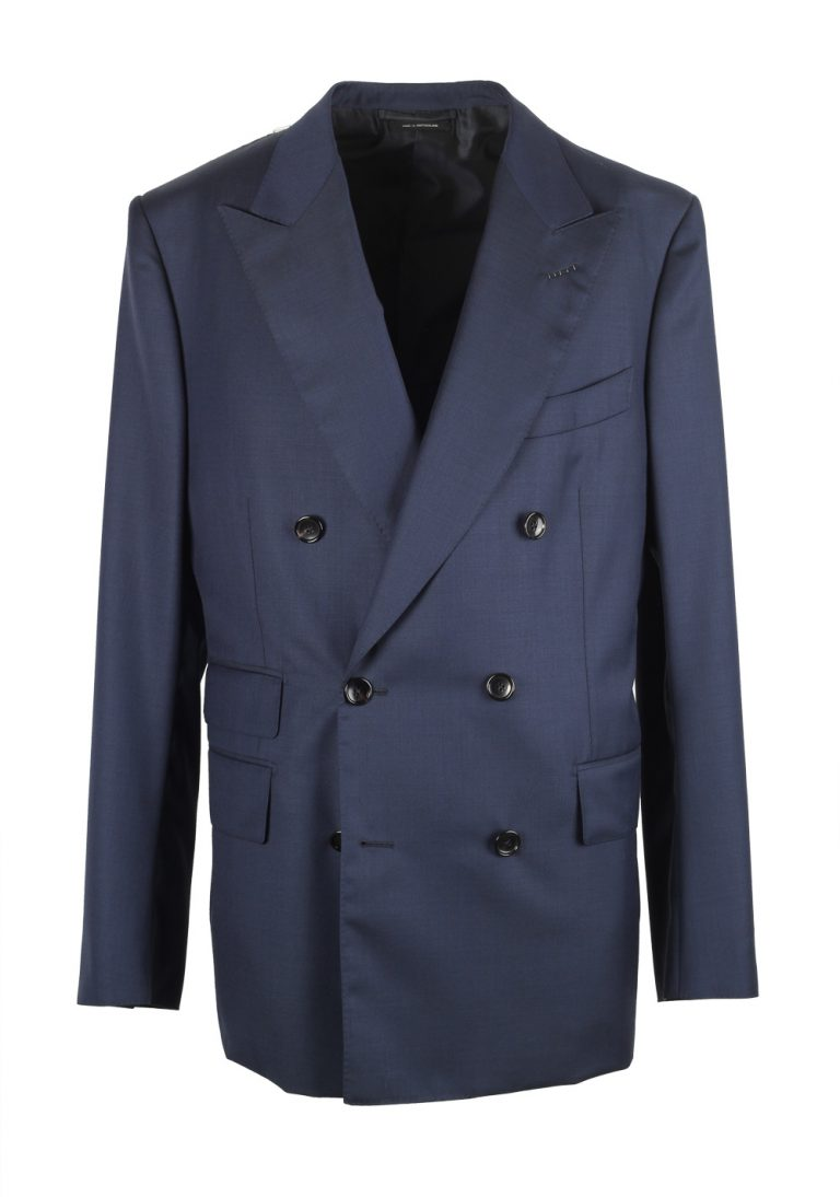 TOM FORD Shelton Double Breasted Blue Sport Coat Size 52 / 42R U.S. - thumbnail | Costume Limité