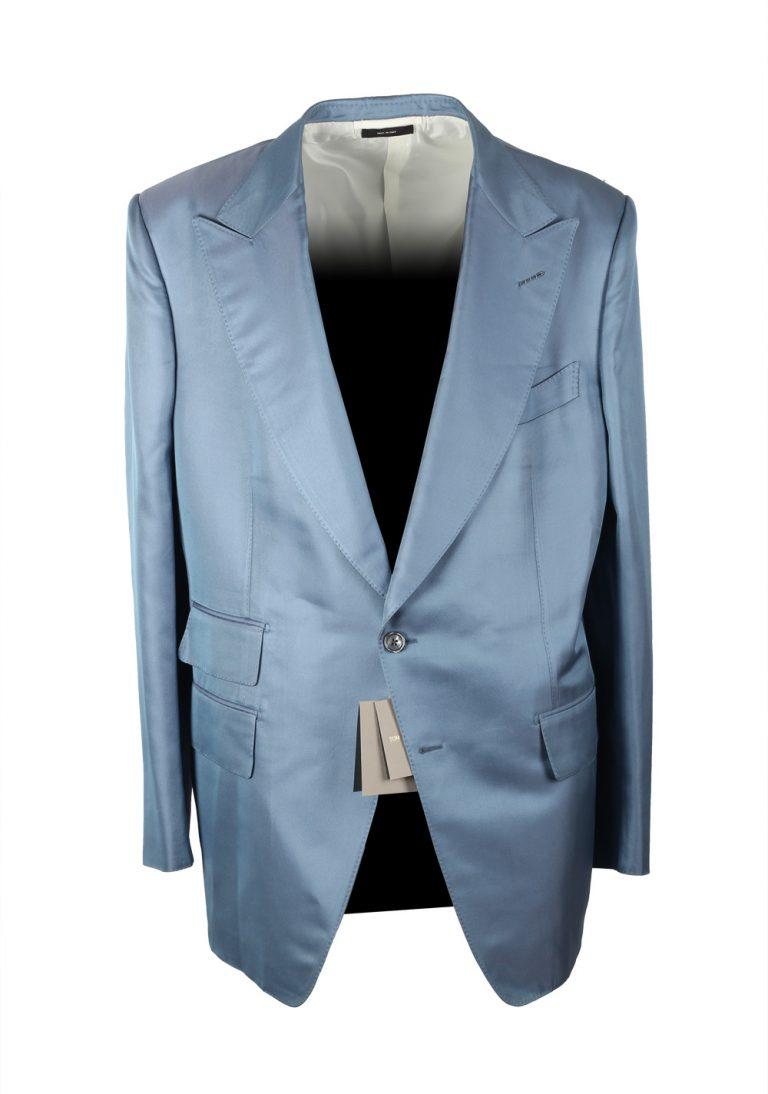TOM FORD Atticus Blue Sport Coat Size 58 / 48R U.S. In Silk Blend - thumbnail | Costume Limité