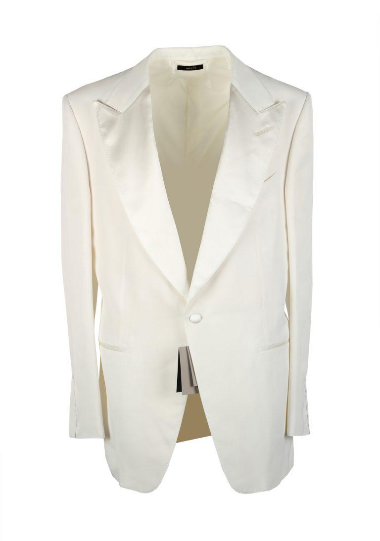 TOM FORD Atticus Off White Signature Tuxedo Dinner Jacket Size 54 / 44R U.S. - thumbnail | Costume Limité