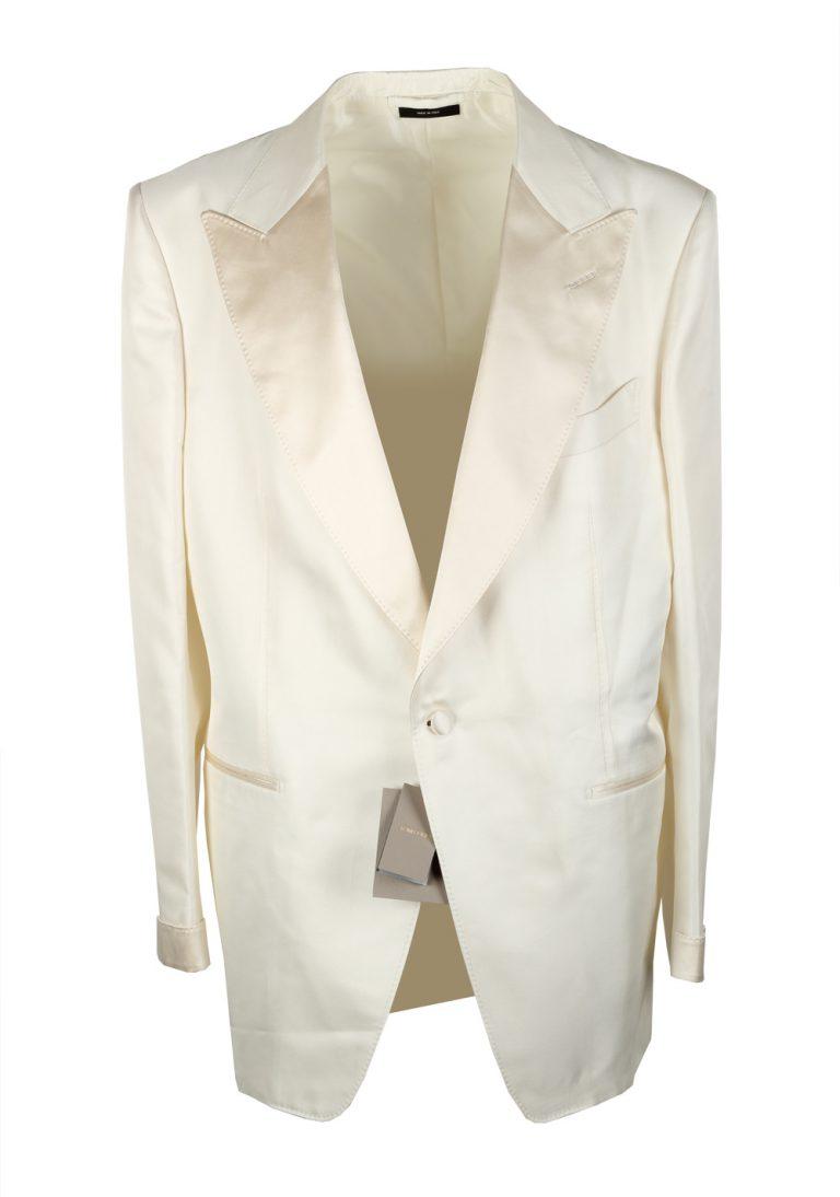 TOM FORD Atticus Ivory Signature Tuxedo Dinner Jacket Size 58 / 48R U.S. - thumbnail | Costume Limité
