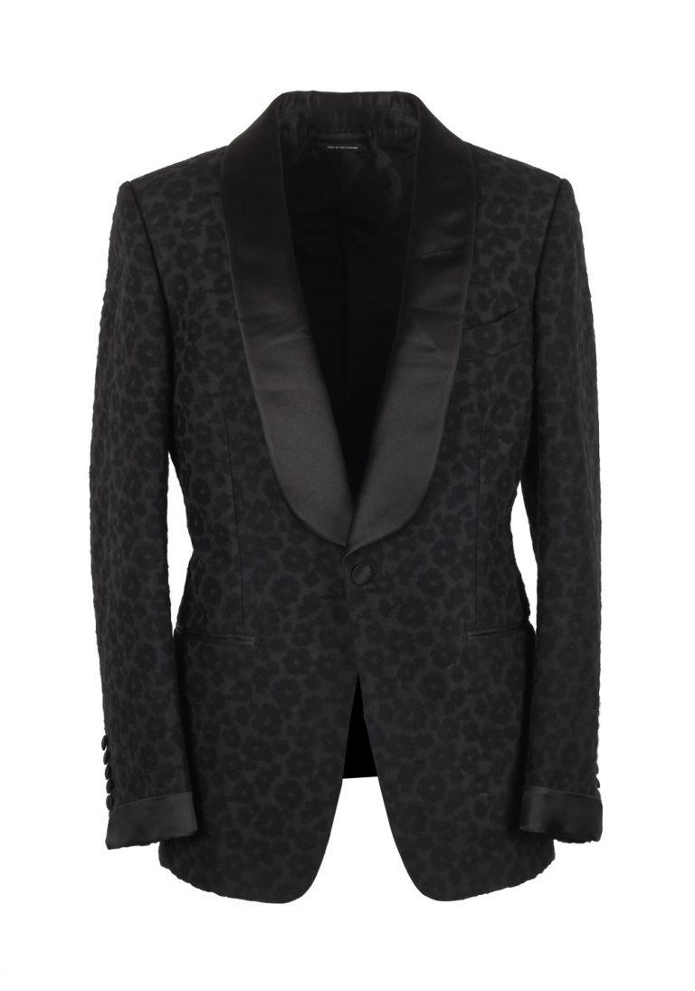TOM FORD Buckley Black Leopard Tuxedo Cocktail Dinner Jacket Size 48 / 38R U.S. - thumbnail | Costume Limité