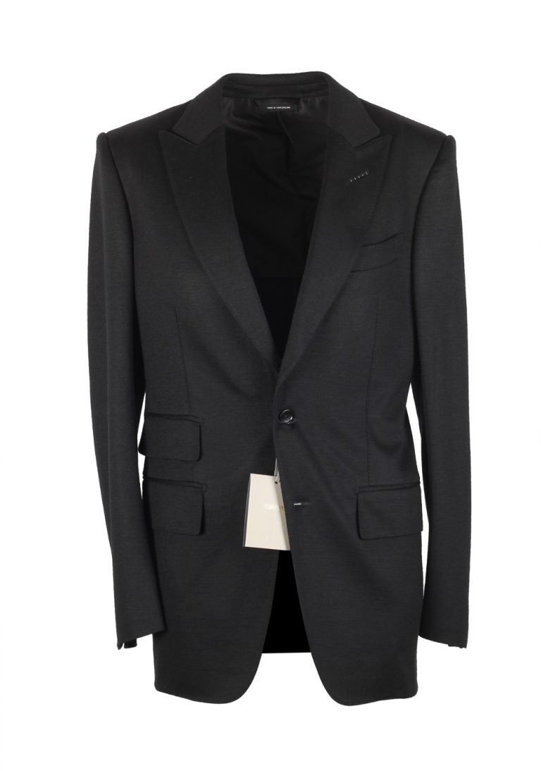 TOM FORD Atticus Black Suit Size 46 / 36R U.S. In Wool - thumbnail | Costume Limité