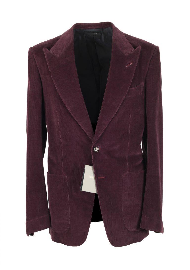 TOM FORD Alexander Corduroy Aubergine Suit Size 48 / 38R U.S. Fit Z - thumbnail | Costume Limité