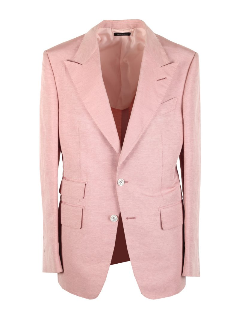 TOM FORD Shelton Pink Sport Coat In Silk Blend - thumbnail | Costume Limité