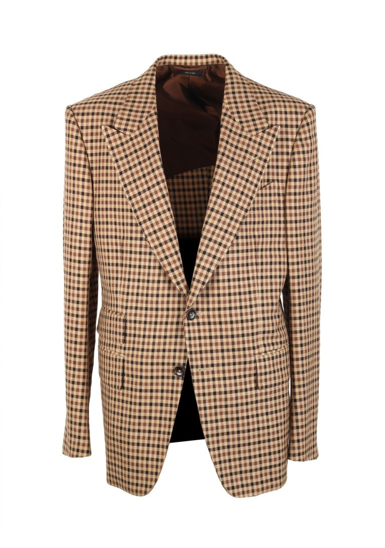 TOM FORD Shelton Checked Brown Sport Coat Size 50 / 40R U.S. - thumbnail | Costume Limité