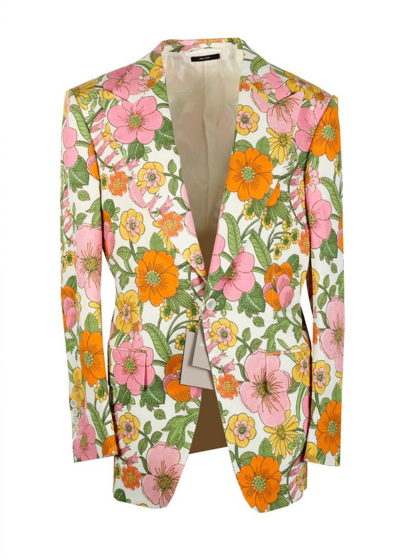 TOM FORD Atticus Floral 60s Sport Coat Size 46 / 36R U.S. - thumbnail | Costume Limité