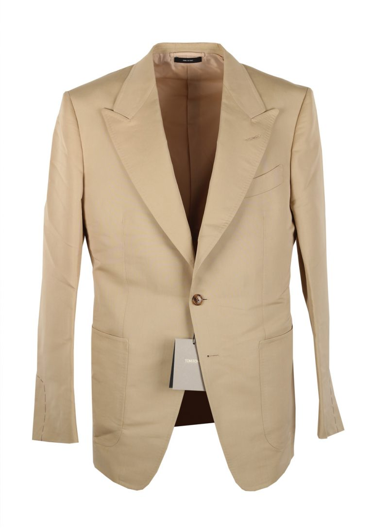 TOM FORD Shelton Beige Sport Coat Size 50 / 40R U.S. In Silk Blend - thumbnail | Costume Limité