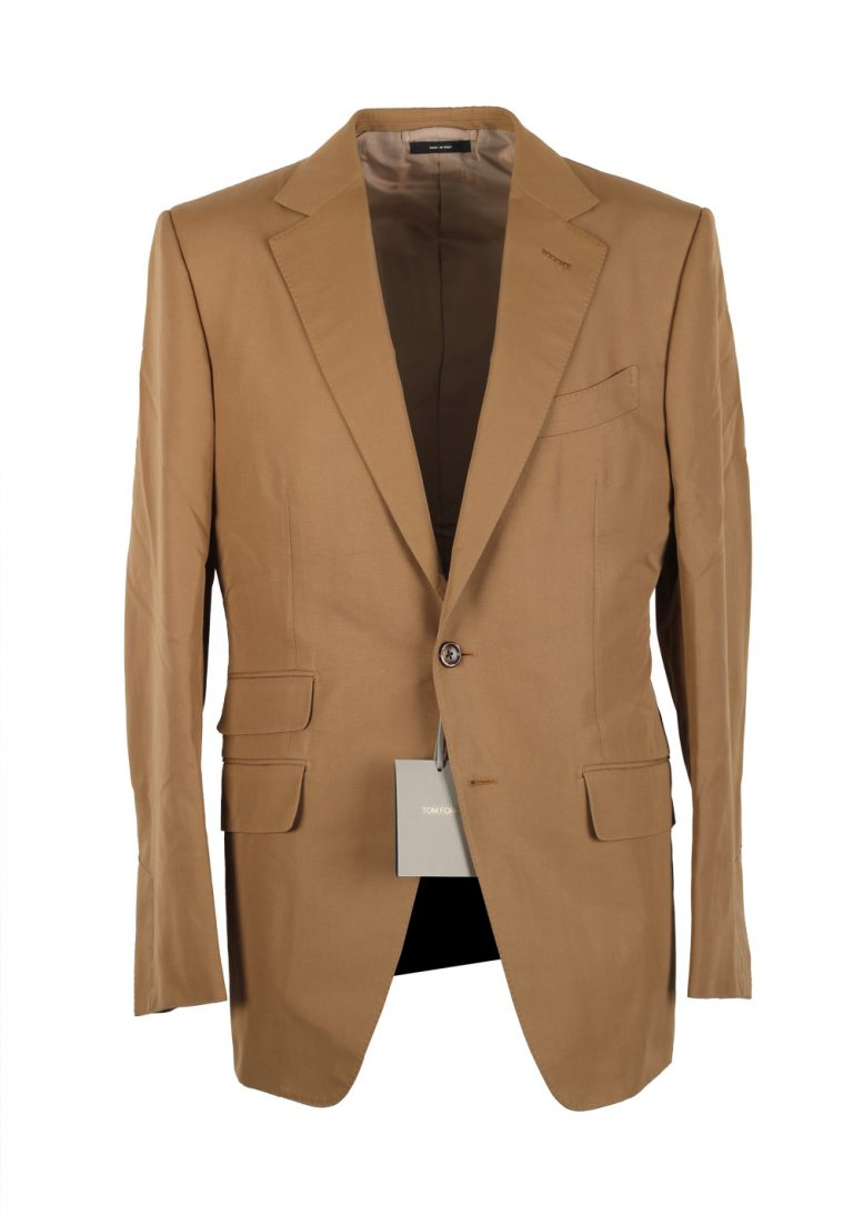 TOM FORD O'Connor Brown Suit Size 48 / 38R U.S. In Wool Fit Y - thumbnail | Costume Limité