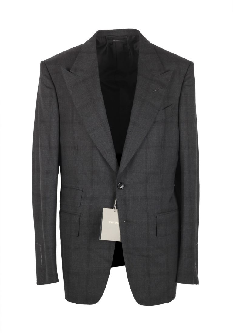 TOM FORD Shelton Checked Gray Suit - thumbnail | Costume Limité