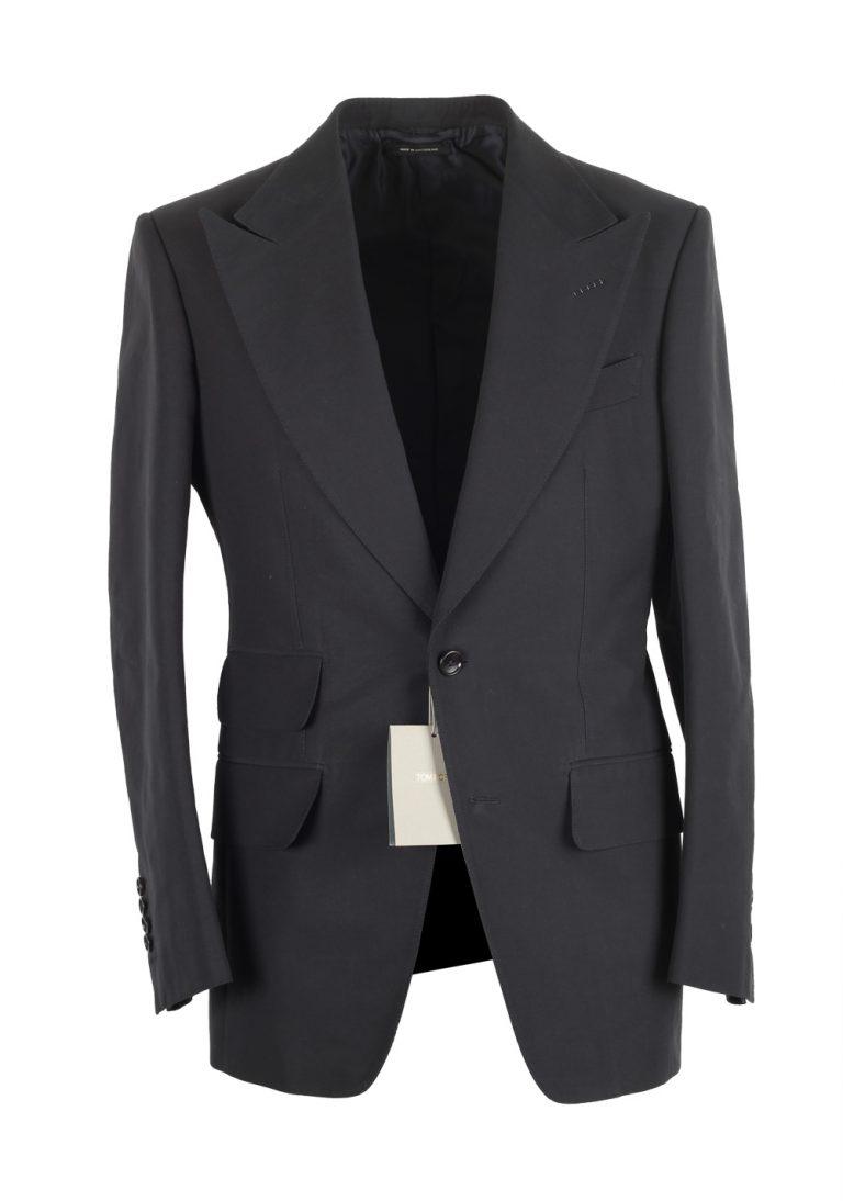 TOM FORD Atticus Cotton Blue Suit Size 46 / 36R U.S. - thumbnail | Costume Limité