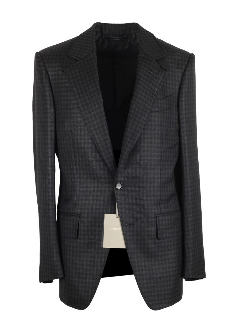 TOM FORD Atticus Gray Checked Sport Coat Size 46 / 36R U.S. - thumbnail | Costume Limité