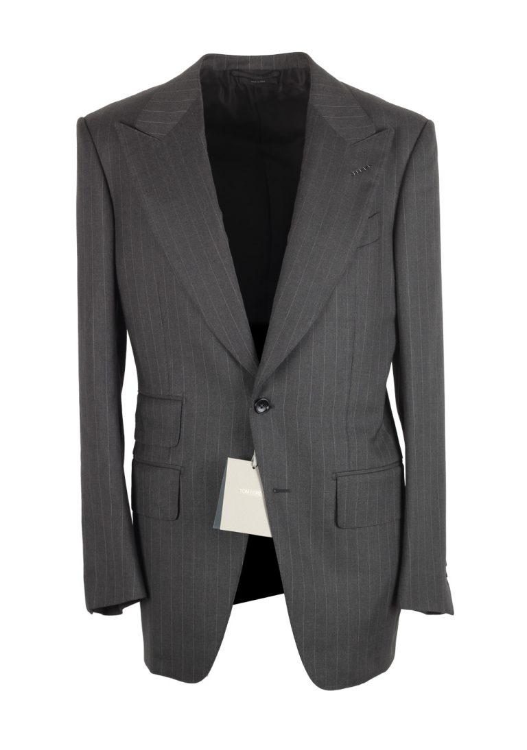 TOM FORD Atticus Gray Striped Sport Coat Size 46 / 36R U.S. - thumbnail | Costume Limité