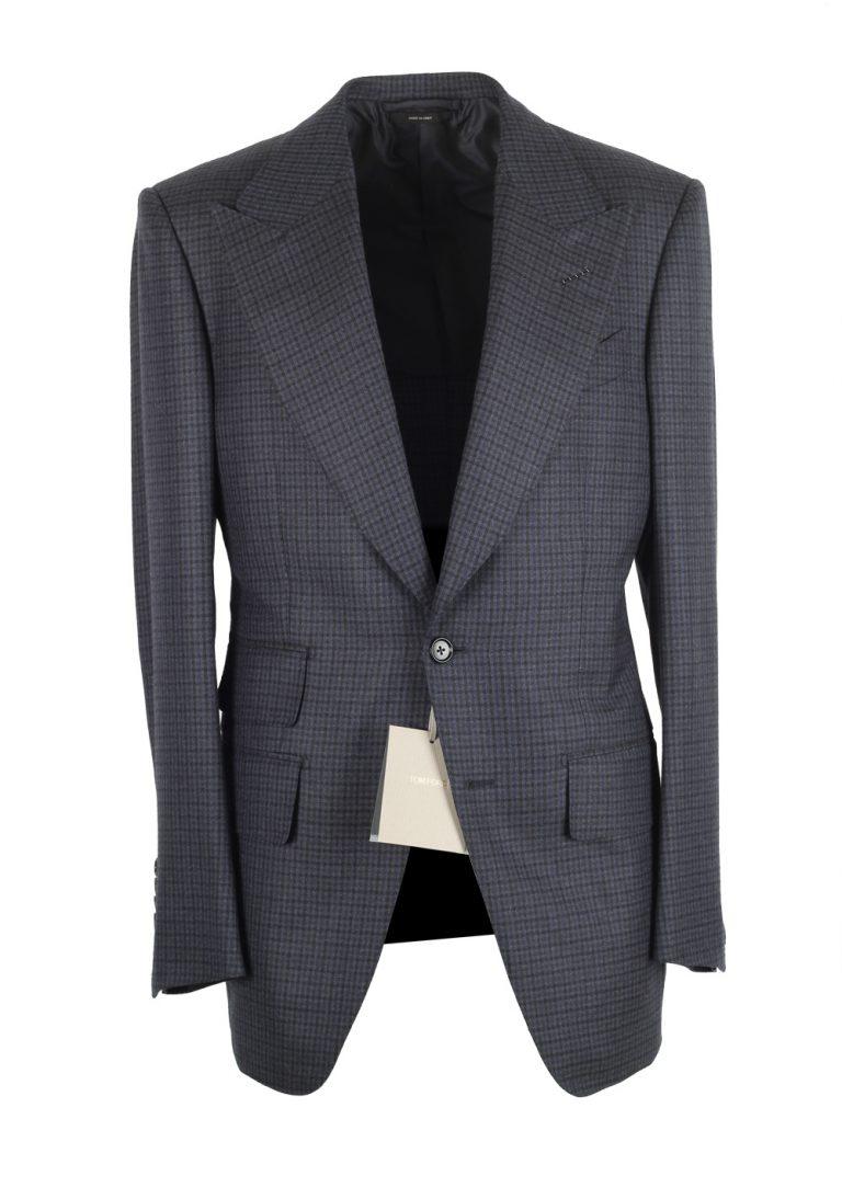 TOM FORD Atticus Blue Checked Sport Coat Size 46 / 36R U.S. - thumbnail | Costume Limité