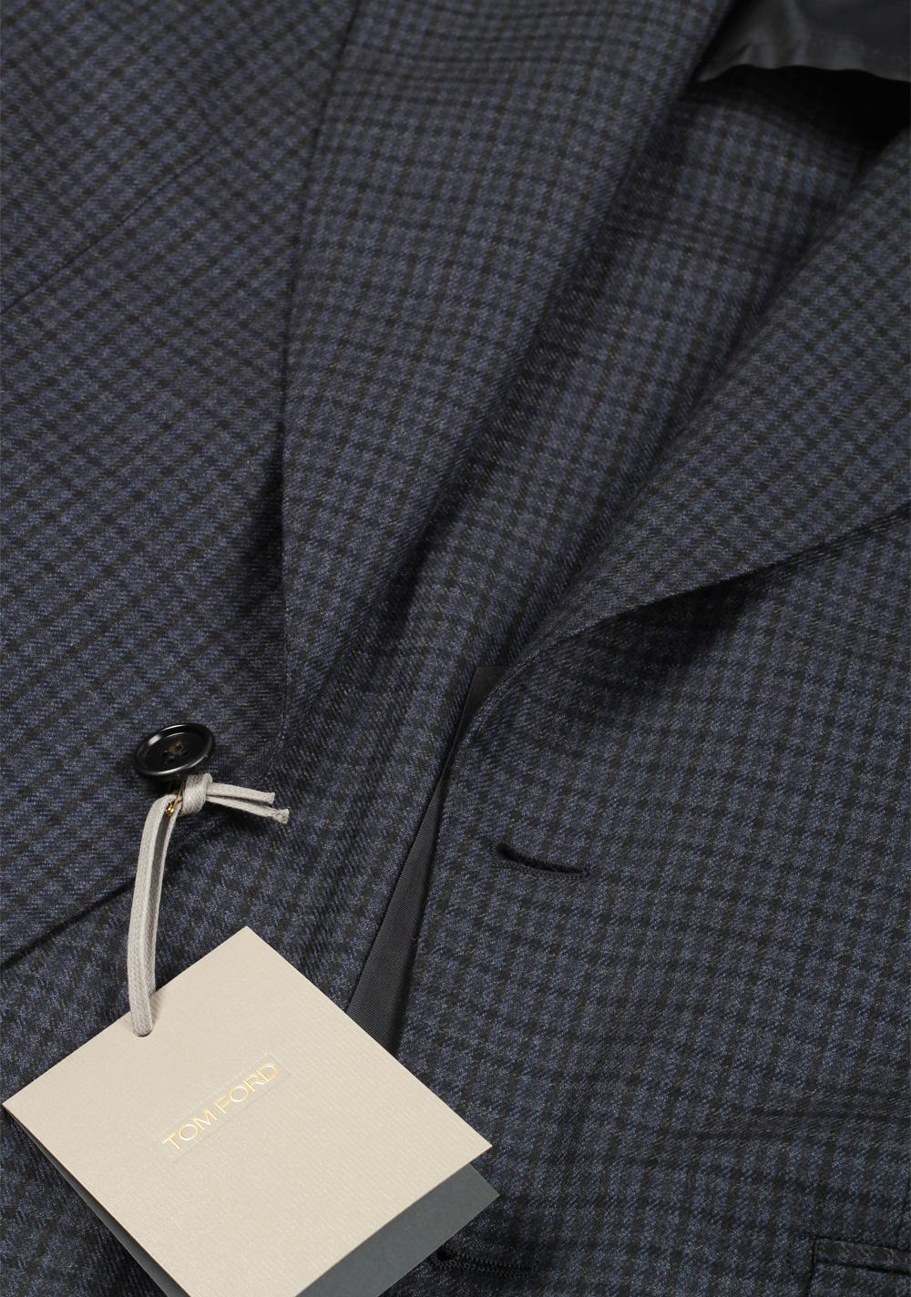 TOM FORD Atticus Blue Checked Sport Coat Size 46 / 36R U.S. | Costume Limité