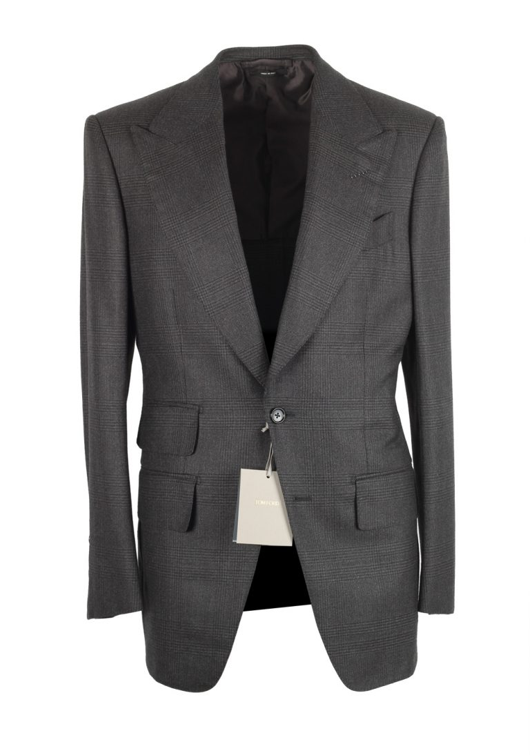 TOM FORD Atticus Gray Checked Suit Size 46 / 36R U.S. - thumbnail | Costume Limité