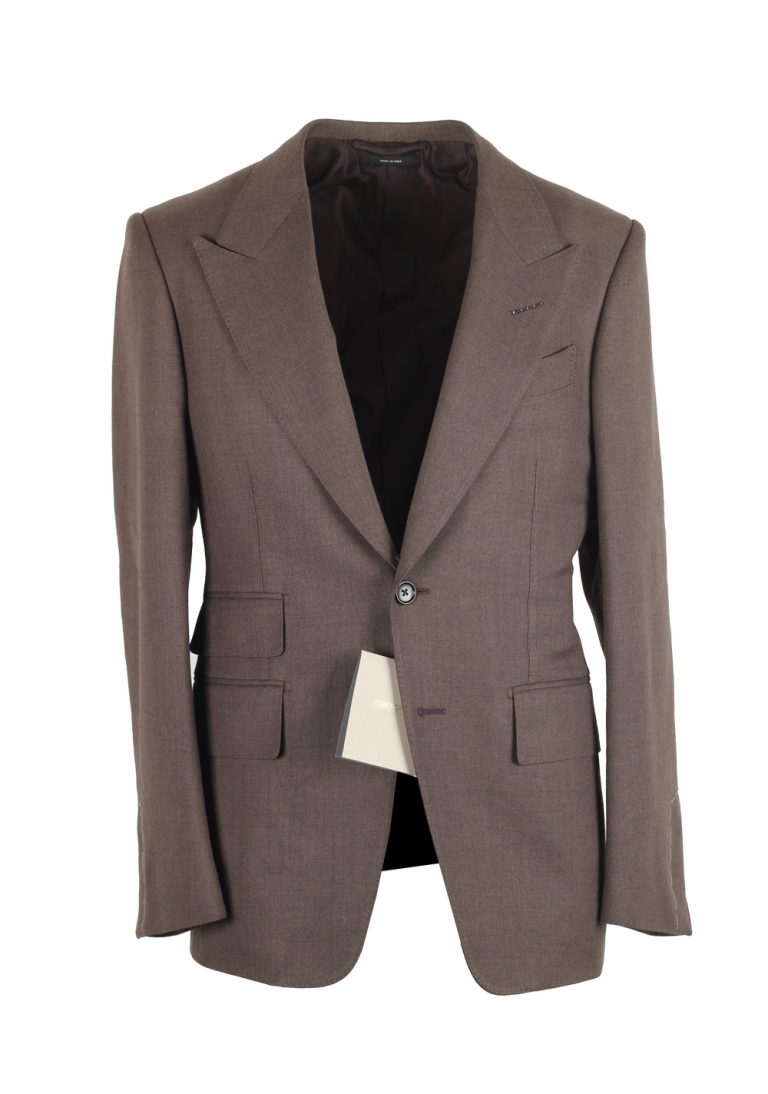 TOM FORD Shelton Solid Brown Suit Size 44C / 34S U.S. - thumbnail | Costume Limité