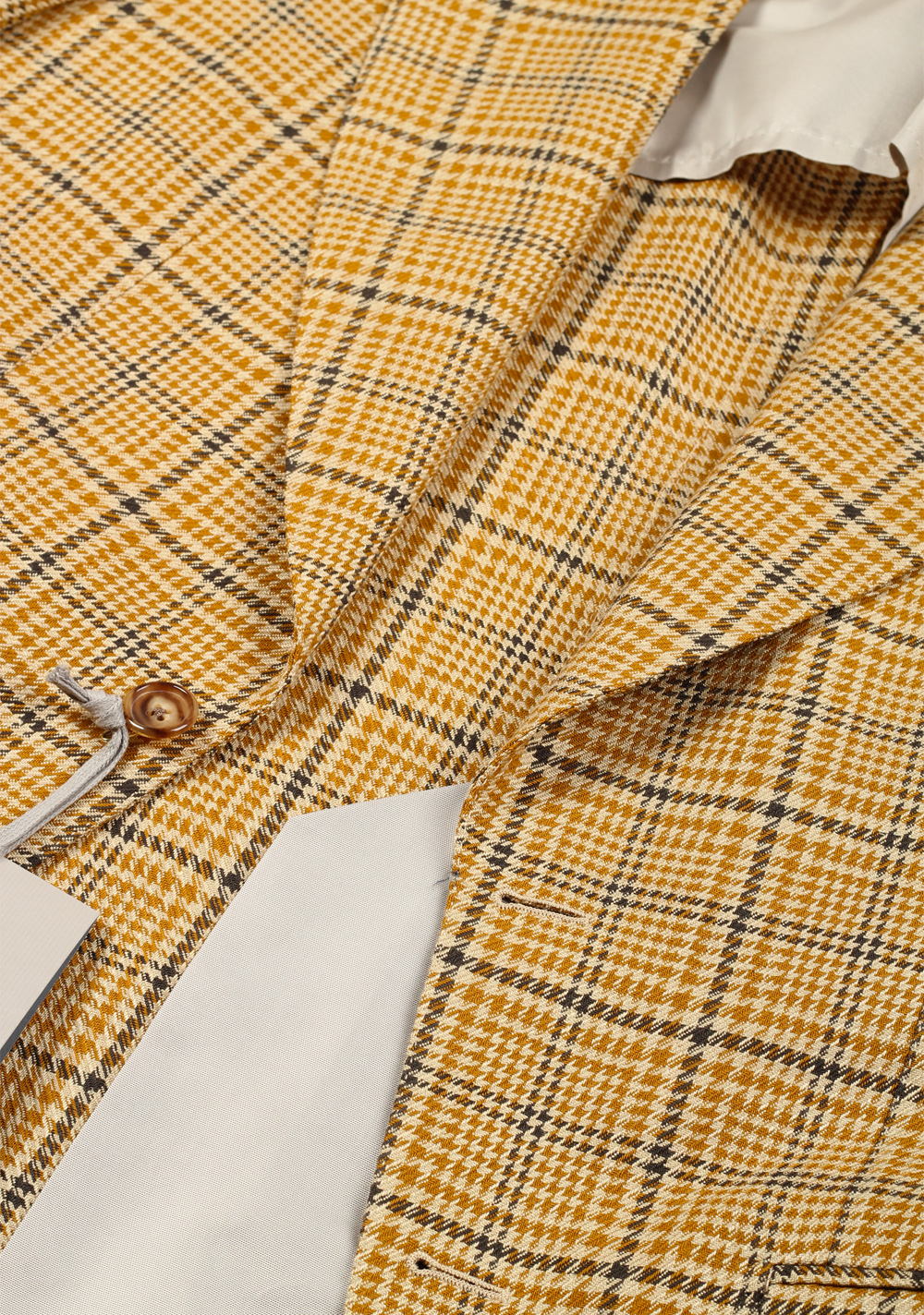TOM FORD Atticus Yellow Checked Suit Size 46 / 36R U.S.   Costume Limité