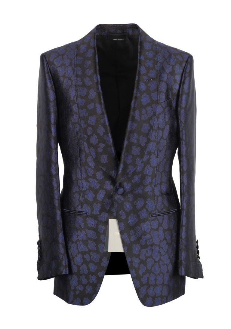 TOM FORD Atticus Blue Silk Tuxedo Dinner Jacket Size 46 / 36R U.S. - thumbnail   Costume Limité