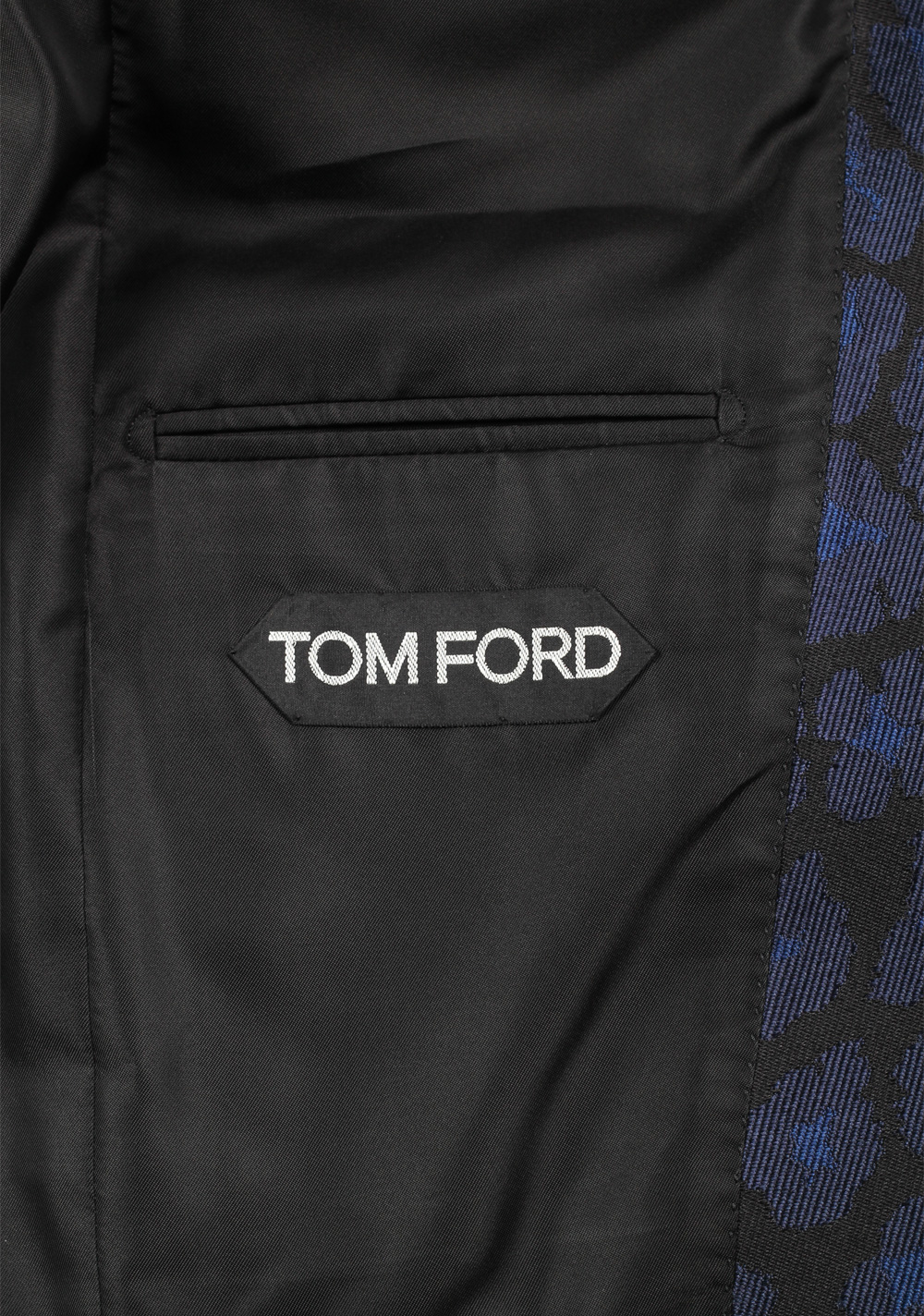 TOM FORD Atticus Blue Silk Tuxedo Dinner Jacket Size 46 / 36R U.S.   Costume Limité