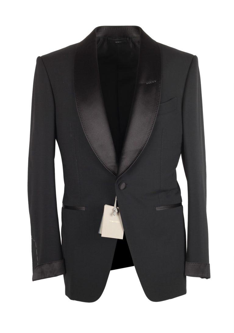TOM FORD Atticus Black Tuxedo Smoking Suit Size 46C / 36S U.S. - thumbnail   Costume Limité
