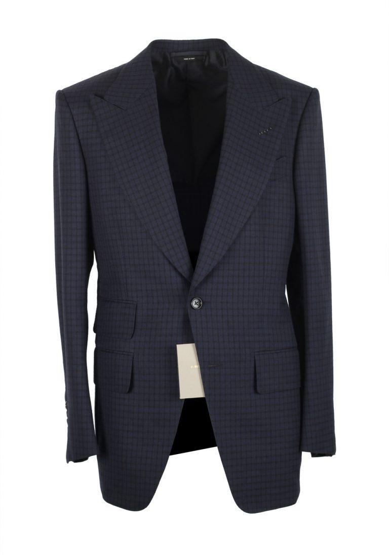 TOM FORD Atticus Blue Checked Suit Size 46 / 36R U.S. - thumbnail | Costume Limité