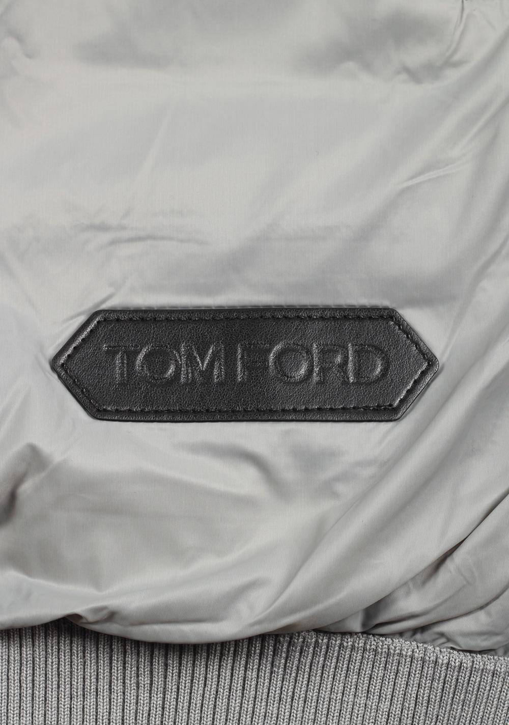 TOM FORD Gray James Bond Spectre Bomber Jacket   Costume Limité