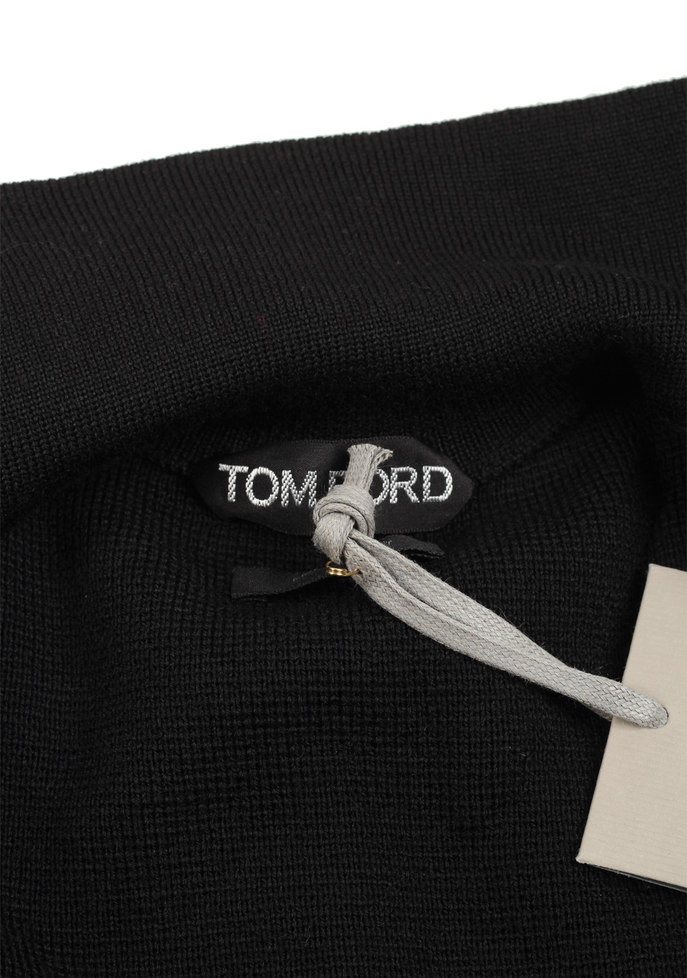 TOM FORD Black Knitted Sleeve Bomber Jacket  Size 50 / 40R U.S.   Costume Limité