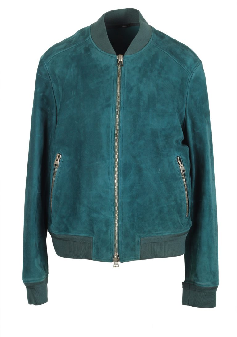 TOM FORD Green Lamb Suede Bomber Jacket  Size 50 / 40R U.S. - thumbnail   Costume Limité