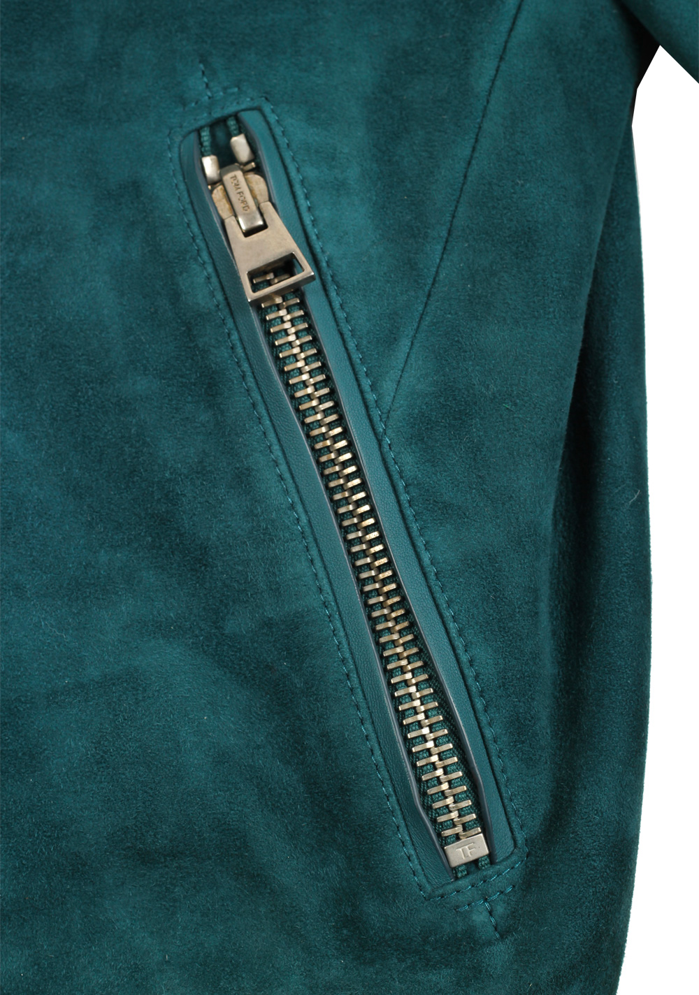 TOM FORD Green Lamb Suede Bomber Jacket  Size 50 / 40R U.S. | Costume Limité