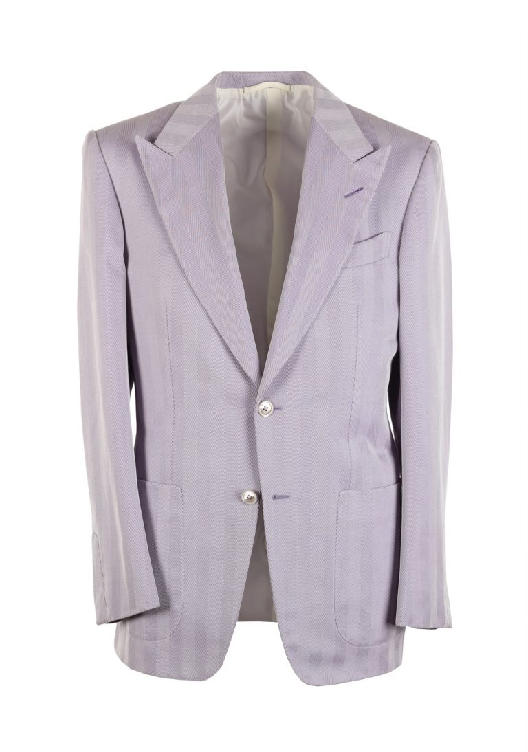TOM FORD Windsor Lilac Sport Coat Size 46 / 36R Cotton Silk Base A - thumbnail | Costume Limité