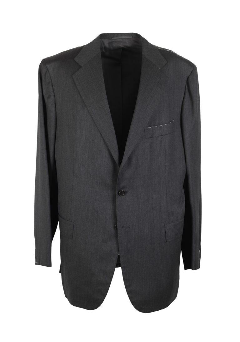 Attolini Solid Gray Suit Size 58 / 48R U.S. - thumbnail | Costume Limité