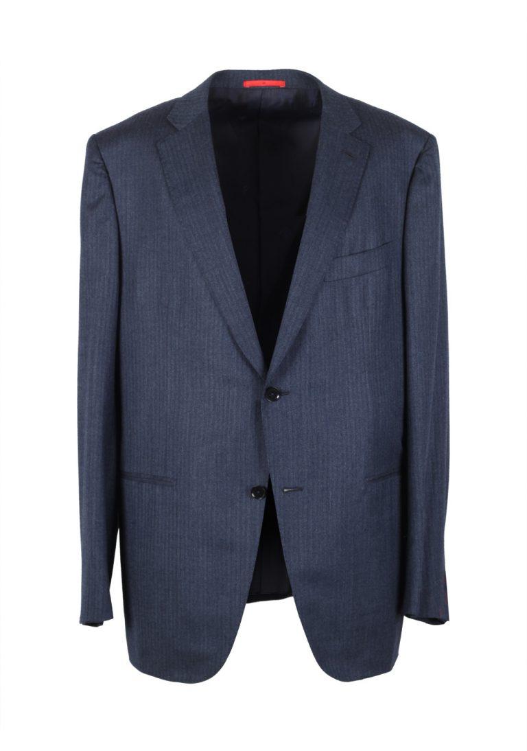 Isaia Suit Size 56 / 46R U.S. Lana Wool Silk Flannel - thumbnail   Costume Limité