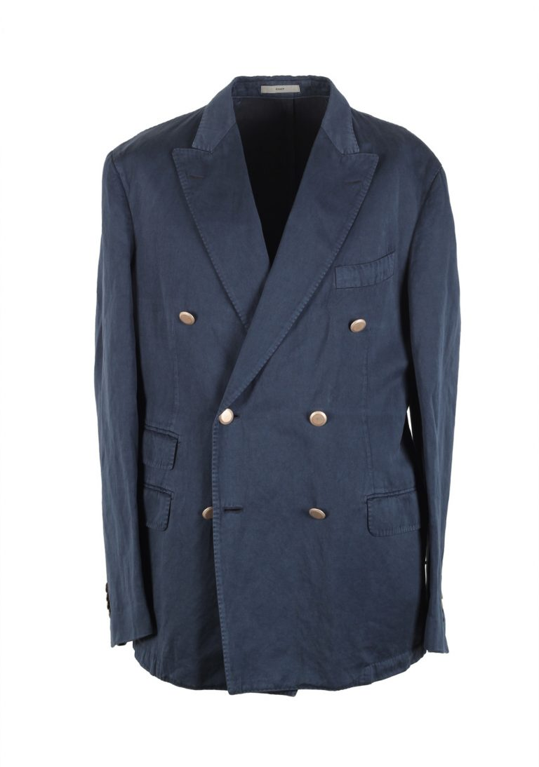 Boglioli Double Breasted Coat Sport Coat Size 52 / 42R U.S. Cotton Linen - thumbnail | Costume Limité