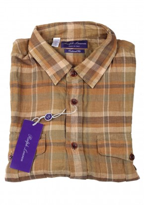 Ralph Lauren Purple Label Short Sleeve Shirt Size Medium Linen - thumbnail | Costume Limité
